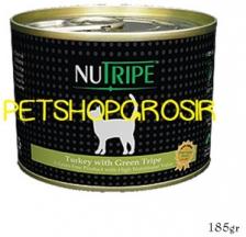 MAKANAN KUCING GRAIN FREE NUTRIPE CLASSIC TURKEY & GREEN LAMB TRIPE FORMULA CAT FOOD 185 GRAM