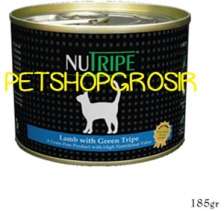 MAKANAN KUCING GRAIN FREE NUTRIPE CLASSICE LAMB & GREEN LAMB TRIPE FORMULA CAT FOOD 185 GRAM