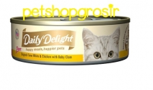 DAILY DELIGHT HAPPY MEALS, HAPPIERS PETS SKIP JAKE TUNA WHITE & CHICKEN WITH BABY CLAM 80gram
