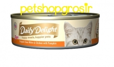 DAILY DELIGHT HAPPY MEALS HAPPIERS PETS SKIP JAKE TUNA WHITE & CHICKEN WITH PUMPKIN 80GRAM