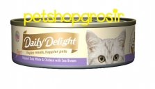 DAILY DELIGHT HAPPY MEALS HAPPIERS PETS SKIP JAKE TUNA WHITE & CHICKEN WITH SEA BREAM 80GRAM