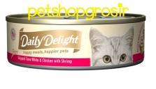 DAILY DELIGHT HAPPY MEALS HAPPIERS PETS SKIP JAKE TUNA WHITE & CHICKEN WITH SHRIMP 80GRAM