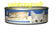 DAILY DELIGHT HAPPY MEALS HAPPIERS PETS SKIP JAKE TUNA WHITE WITH SARDINE IN JELLY 80GRAM