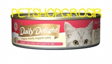DAILY DELIGHT HAPPY MEALS HAPPIERS PETS SKIP JAKE TUNA WHITE WITH SASAMI IN JELLY 80GRAM