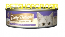 DAILY DELIGHT HAPPY MEALS HAPPIERS PETS SKIP JAKE TUNA WHITE WITH SHIRASU JELLY 80GRAM