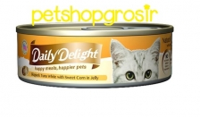 DAILY DELIGHT HAPPY MEALS HAPPIERS PETS SKIP JAKE TUNA WHITE WITH SWEET CORN IN JELLY 80GRAM