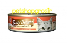DAILY DELIGHT HAPPY MEALS HAPPIERS PETS SKIPJAK TUNA WHITE WITH CARROT IN JELLY 80GRAM