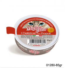 MAKANAN BASAH KUCING MIGLIOR GATTO I DELIZIOSI PATE WITH BEEF & LAMB 85gr