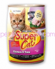 SUPER CAT CHICKEN & TUNA 400GR