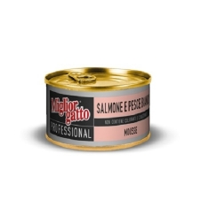 Miglior Gatto Professional Mousse with Salmon & White Fish 85gr (24 kaleng)