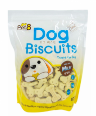 Pet8 Dog Biscuit Milk Flavor 400gr