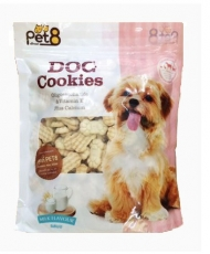 Pet8 Dog Cookies Milk Flavor 400gr