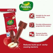 Snack Anjing Happi Doggy Dental Care Apple Gluten Free