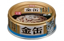Makanan Kucing Aixia GCM36 Kin-can Mini Tuna with Whitebait 70gr