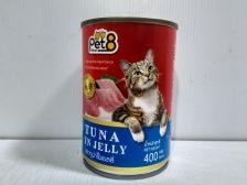 Makanan Basah Kucing Pet8 Tuna in Jelly 400gr