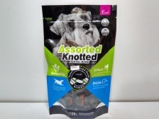 Snack Anjing Endi Assorted Knotted Dental Bone Seaweed & Duck  100gr