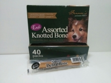 Snack Anjing Endi Assorted Knotted Bone Salmon Dental Stick (Harga per pcs)