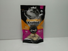 Endi Assorted Knotted Dental Bone Milk & Salmon Bones 100gr