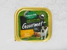 Makanan Basah / Kornet Anjing Nature's Gift Gourmet Beef & Cheese Loaf Style 100gr