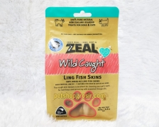Snack Anjing & Kucing Grain Free Zeal Treats Wild Caught Ling Fish Skins 125gr