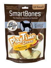 Snack Anjing Smart Bones Playtime Peanut Butter 10 Small