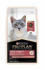 Makanan Kucing Purina Pro Plan Cat Adult Fussy & Beauty (Salmon) 1,5kg