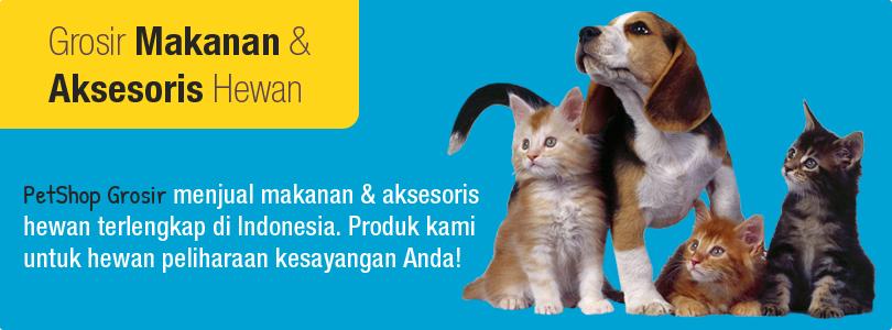 Tidak hanya makanan saja, kami juga menjual keperluan dan aksesoris lainnya seperti bedak anjing kucing, susu, pasir kucing, vitamin anjing kucing